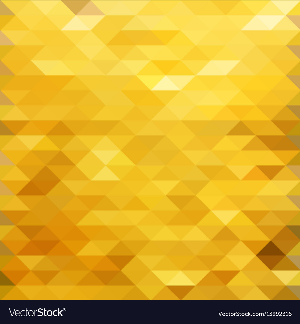 Gold polygonal background vector image