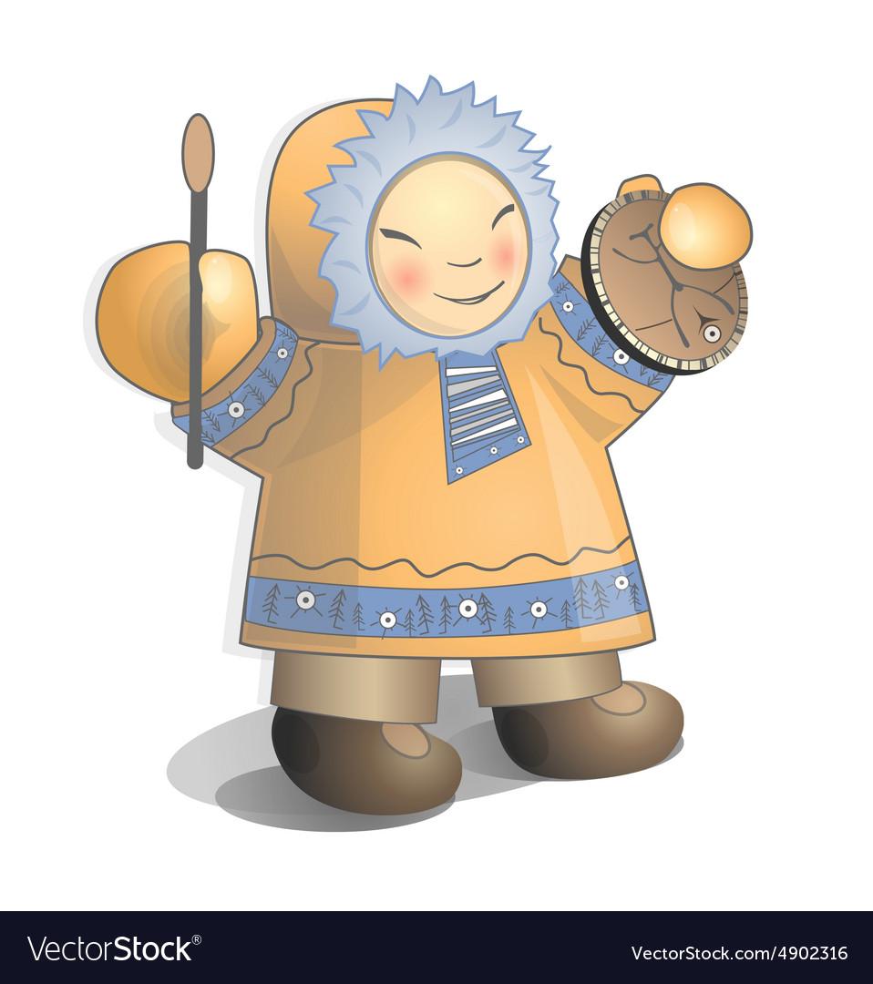 Siberian child vector image