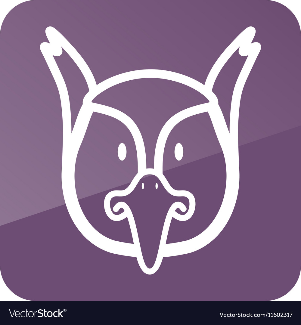 Pheasant icon Animal head vector image