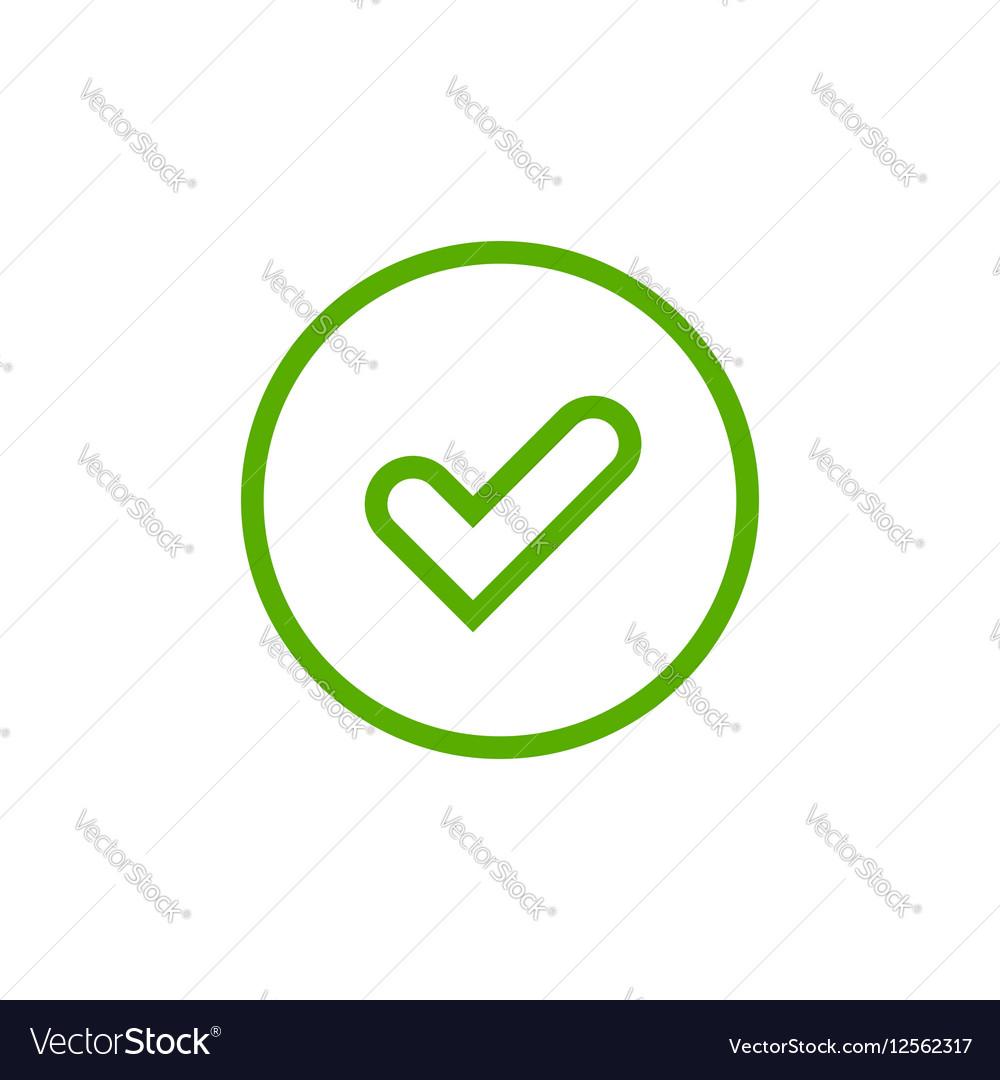Tick green sign element vector image