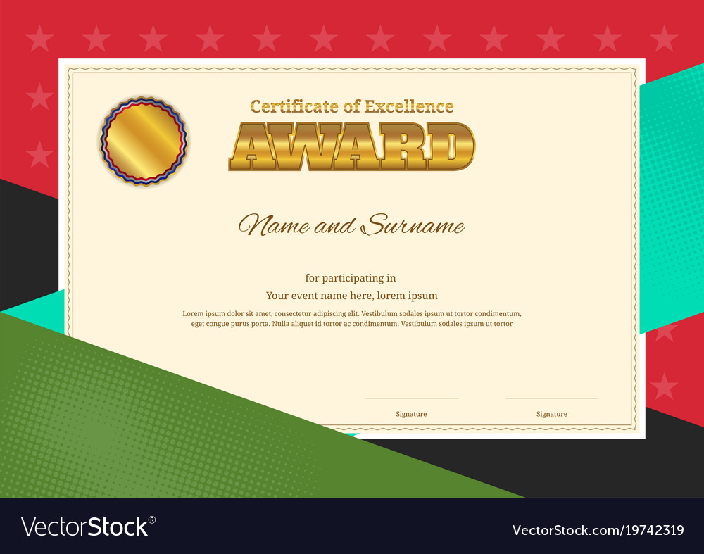Modern award certificate template with colorful vector image modern award certificate template with colorful vector image yelopaper Gallery