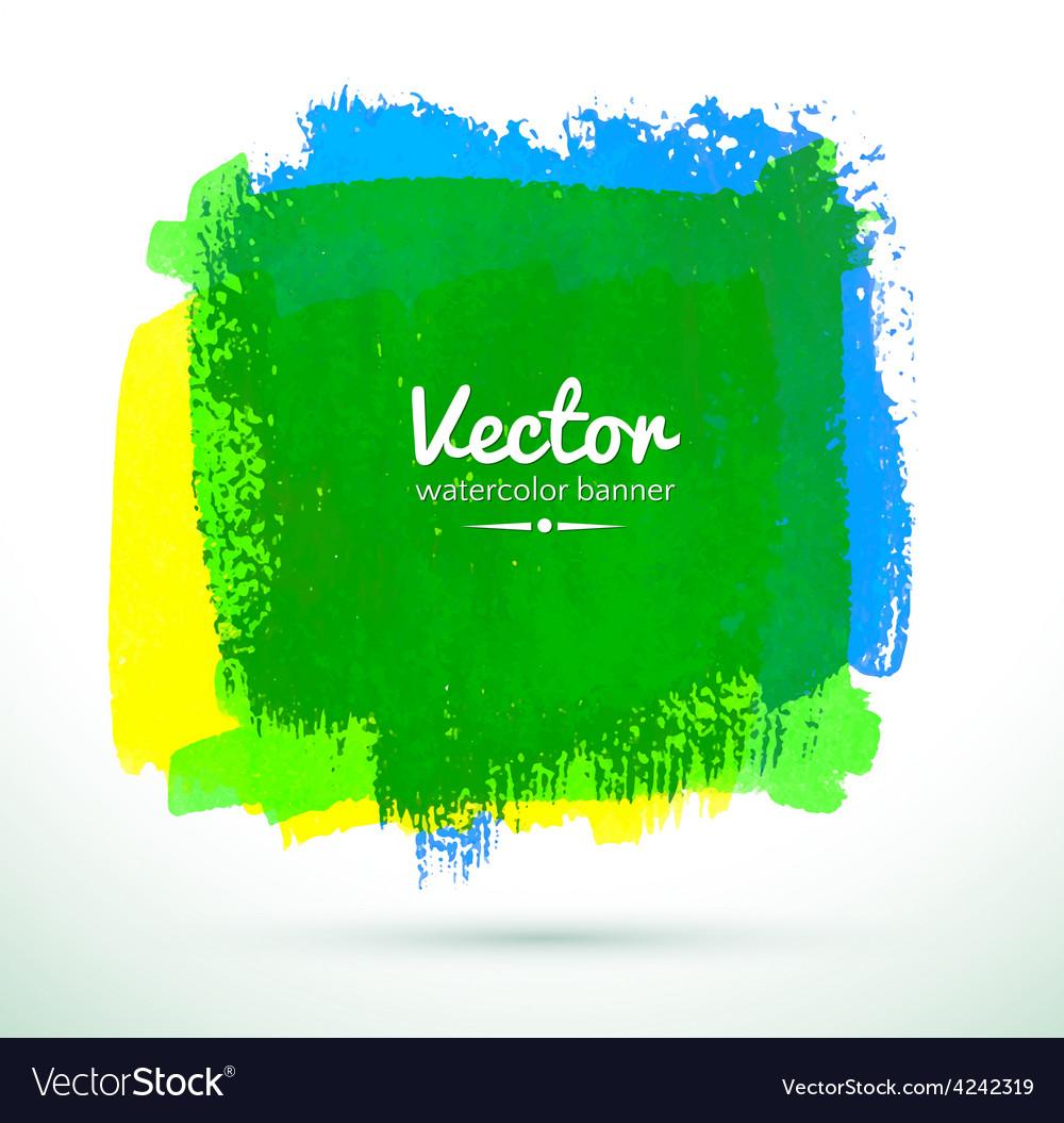 Watercolor banner vector image