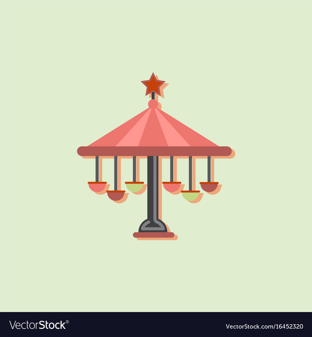 amusement park circus attractions isometric
