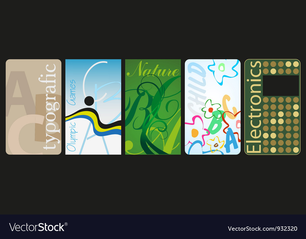Business card5 vector image