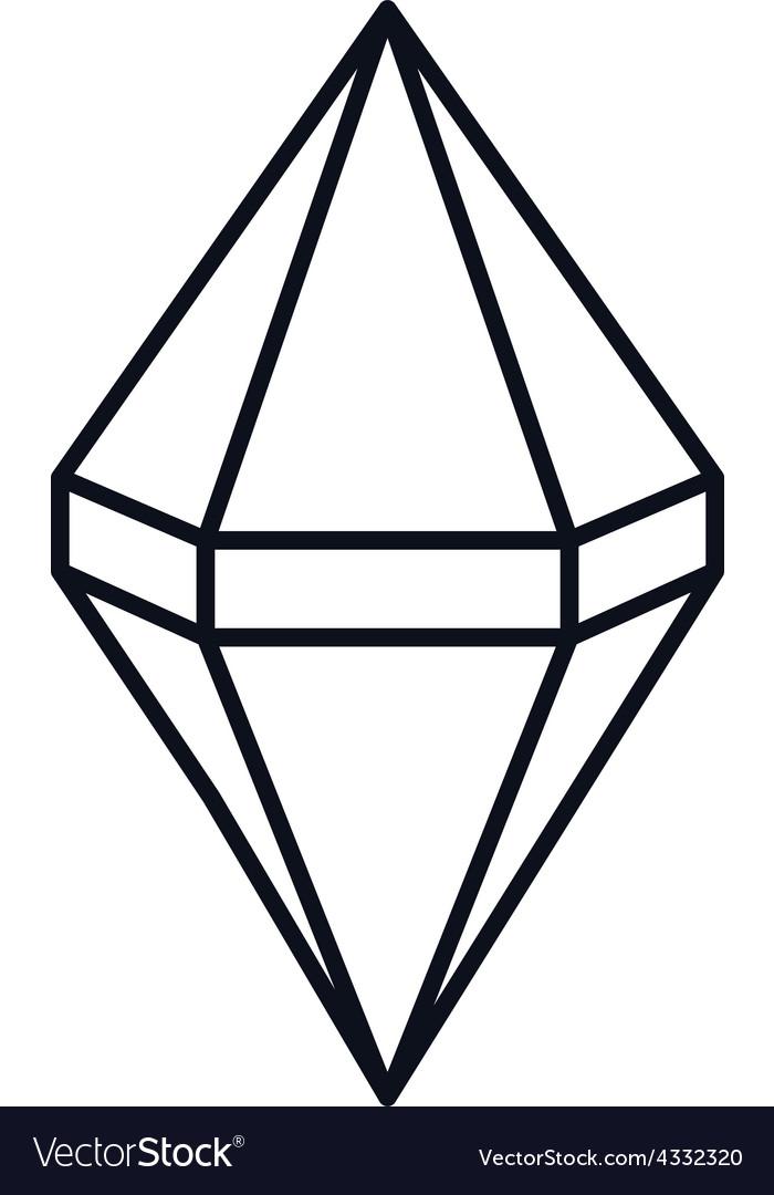 diamond gemstone royalty free vector image vectorstock rh vectorstock com diamond vector free download diamond vector free