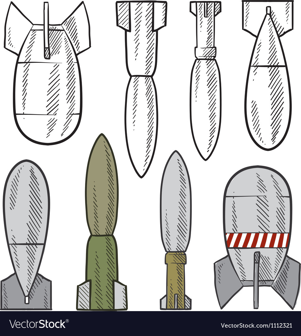 Doodle bombs Vector Image