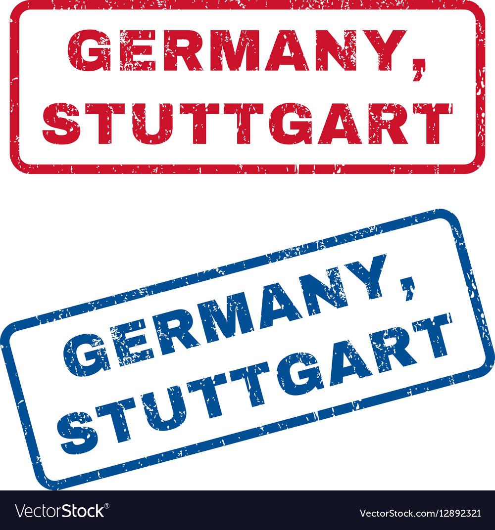 Germany Stuttgart Rubber Stamps vector image