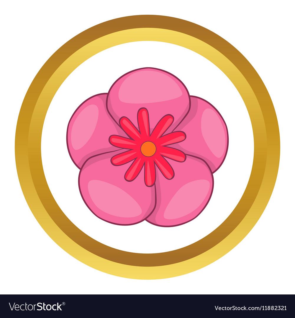 Rose of sharon korean flower icon royalty free vector image rose of sharon korean flower icon vector image mightylinksfo Choice Image