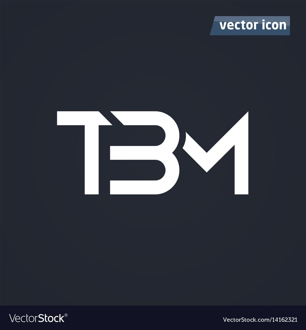 Tbm monogram vector image