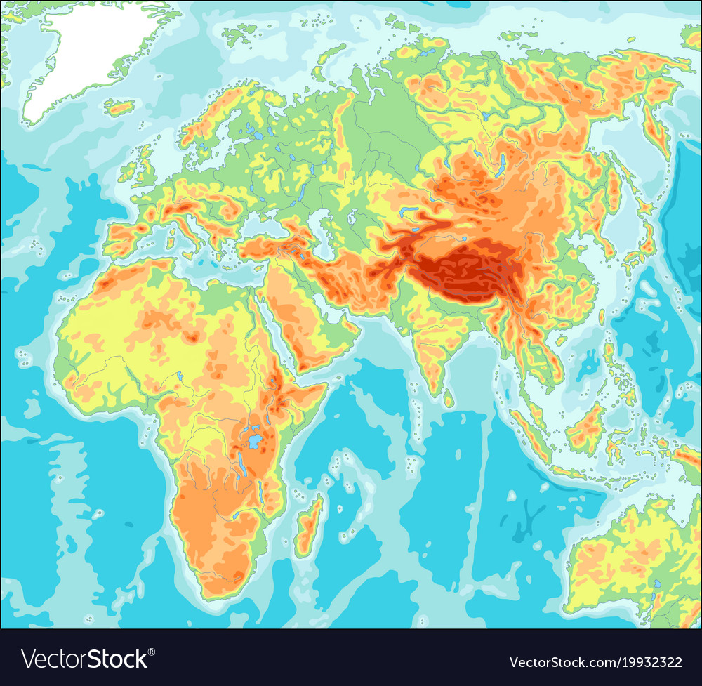 Asia centered physical world map royalty free vector image asia centered physical world map vector image gumiabroncs Images
