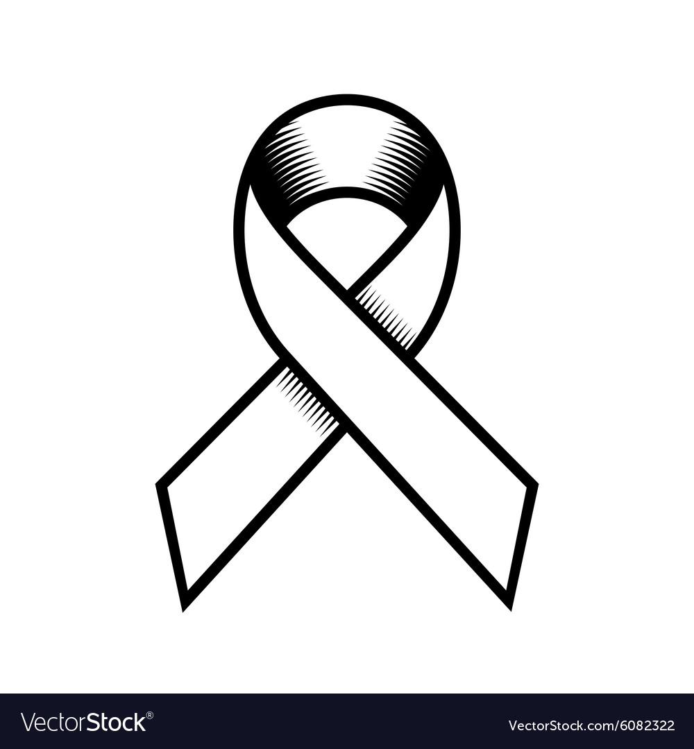 Breast Cancer Retro Style Ribbon on White vector image