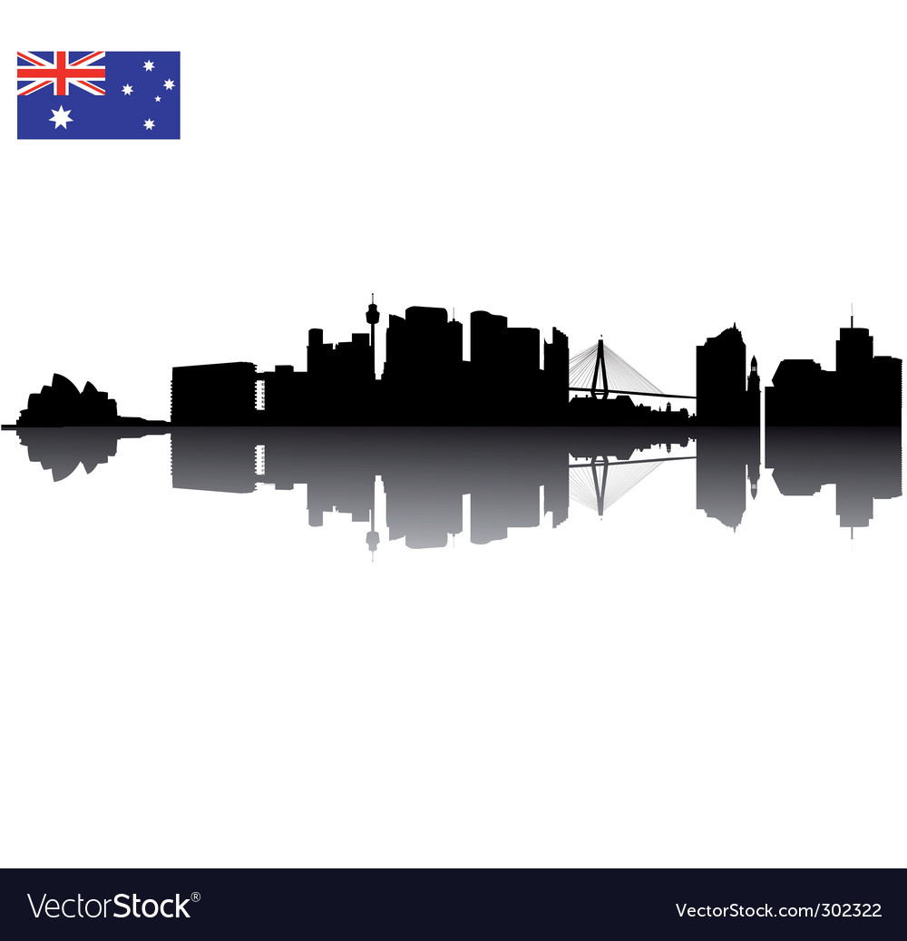 Sydney silhouette vector image