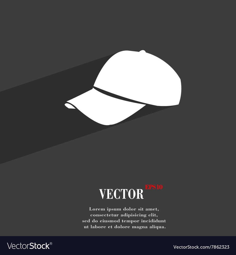 Baseball cap symbol Flat modern web design with vector image