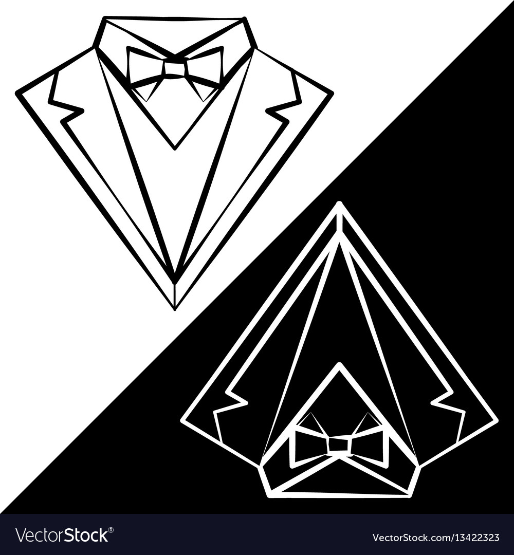 Black and white suits vector image