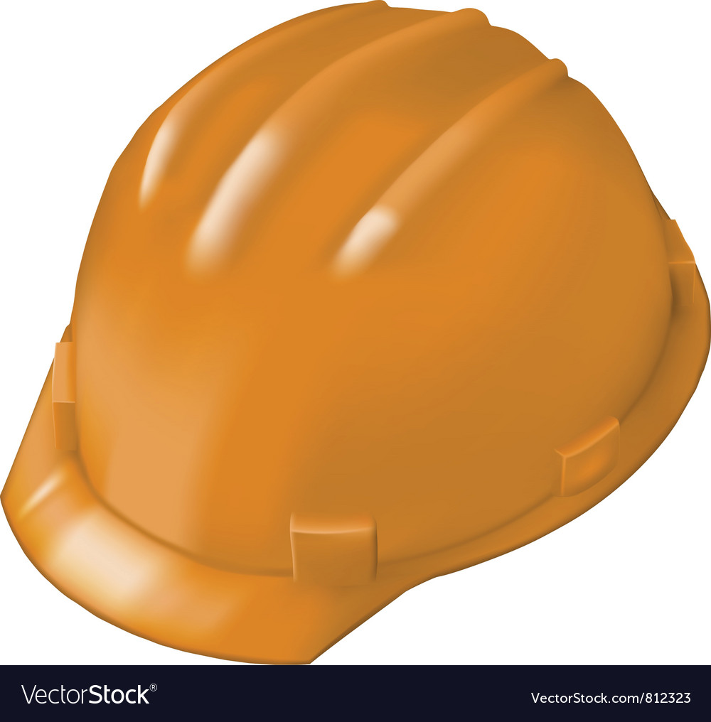 Construction hard hat on white vector image