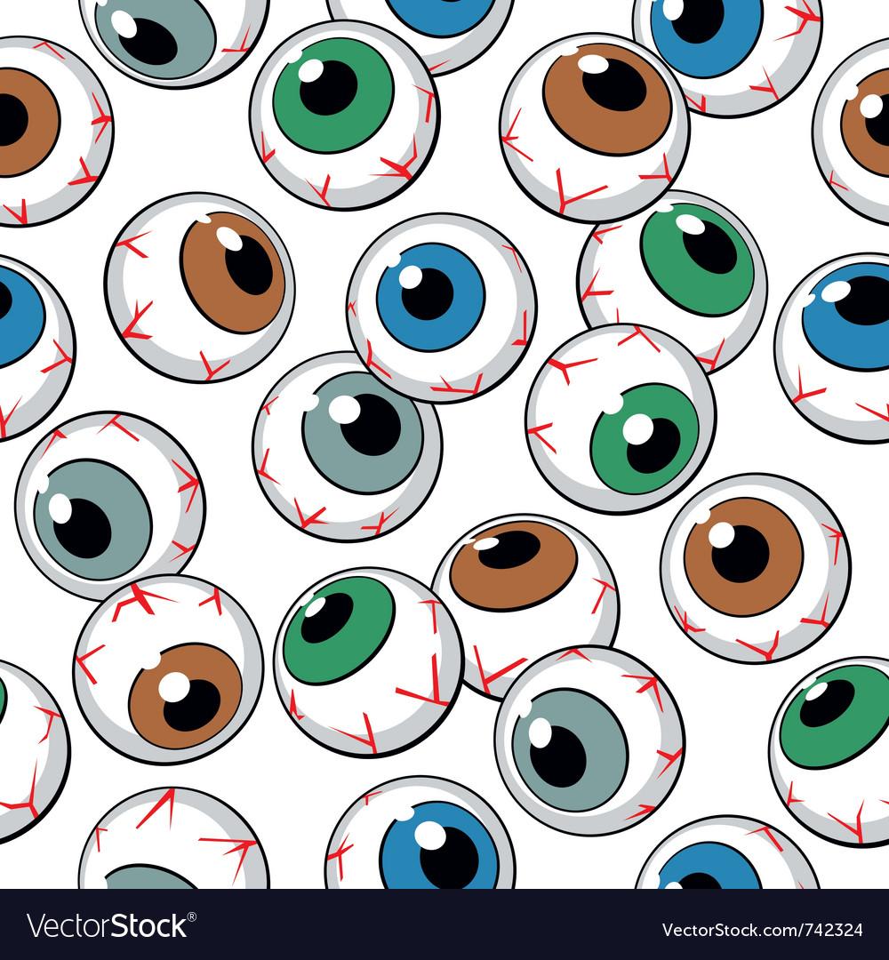 Eyeballs seamless background vector image