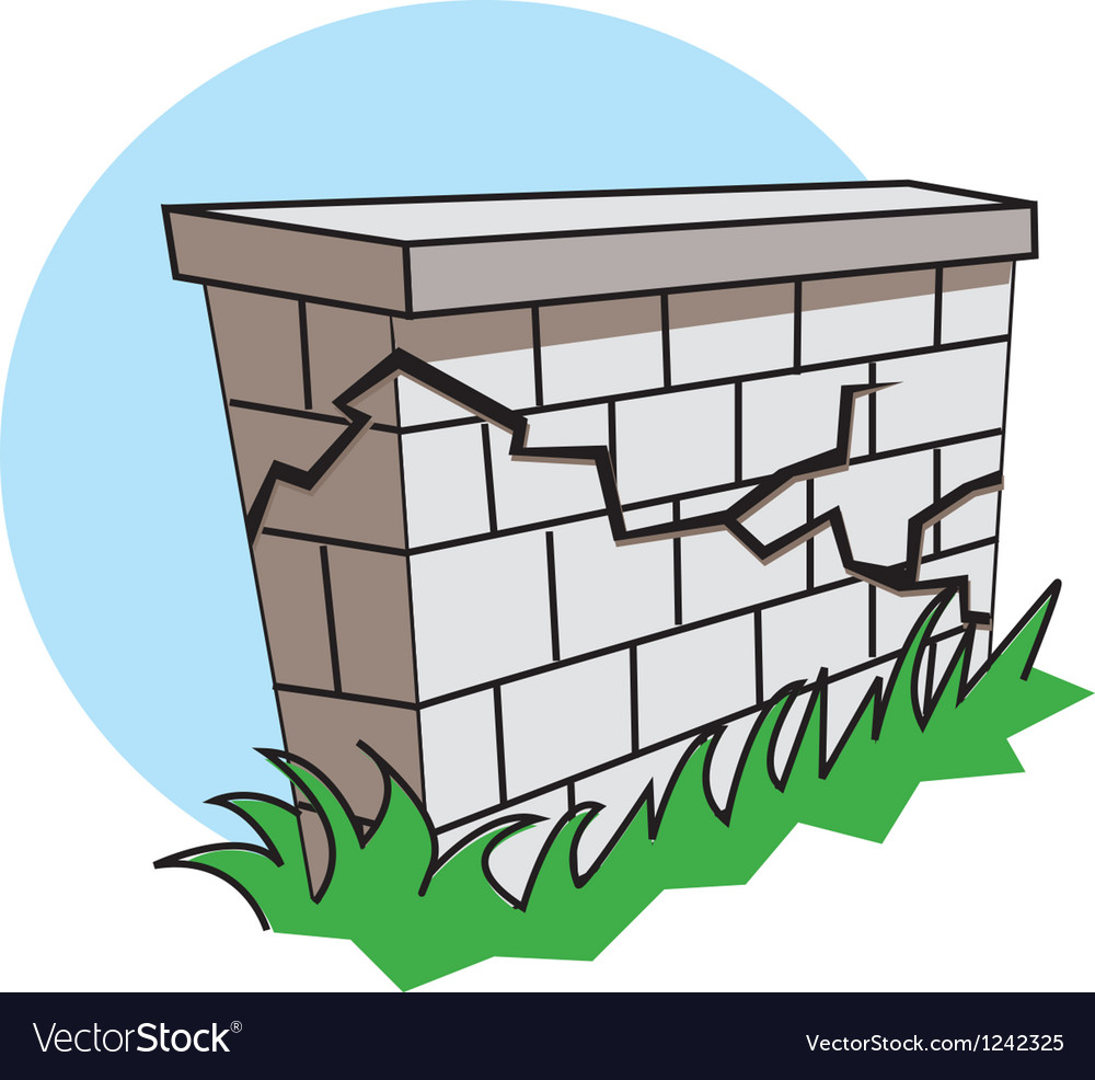 Earthquake wall vector image