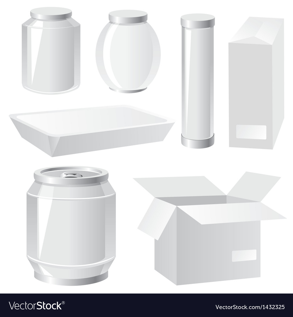 Packing containers Vector Image