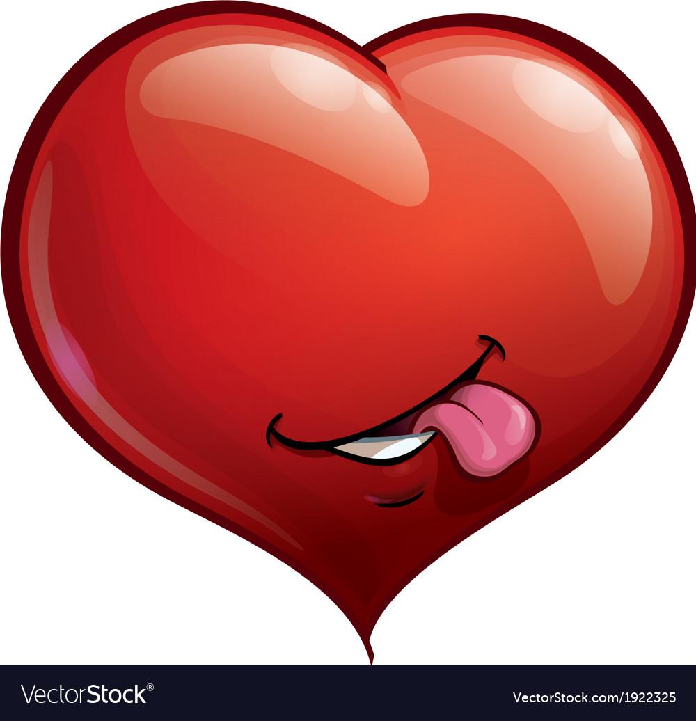 Heart Faces Happy Emoticons Tongue vector image