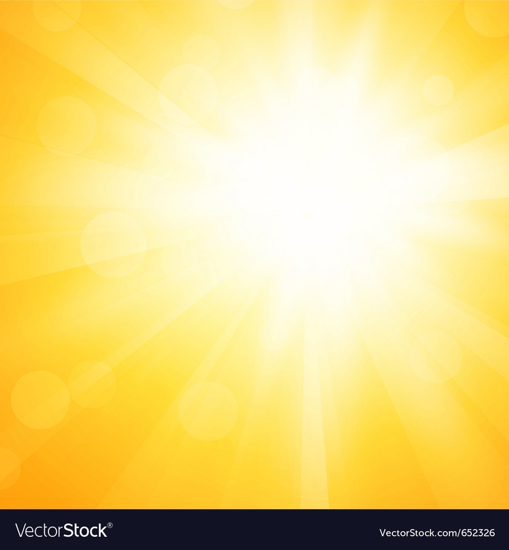 Yellow sun background vector image