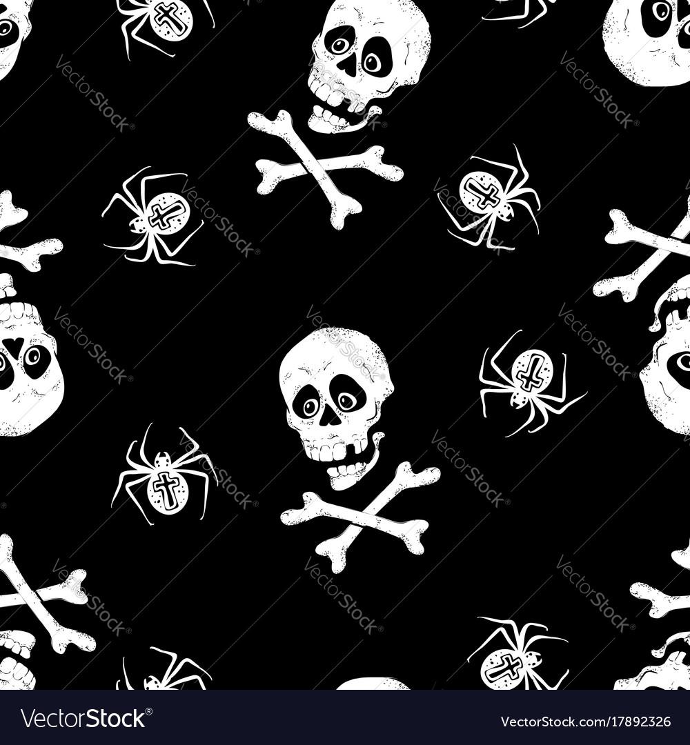Vintage skulls pattern template for your vector image