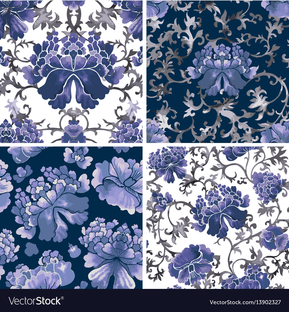 Floral seamless background flower pattern vector image