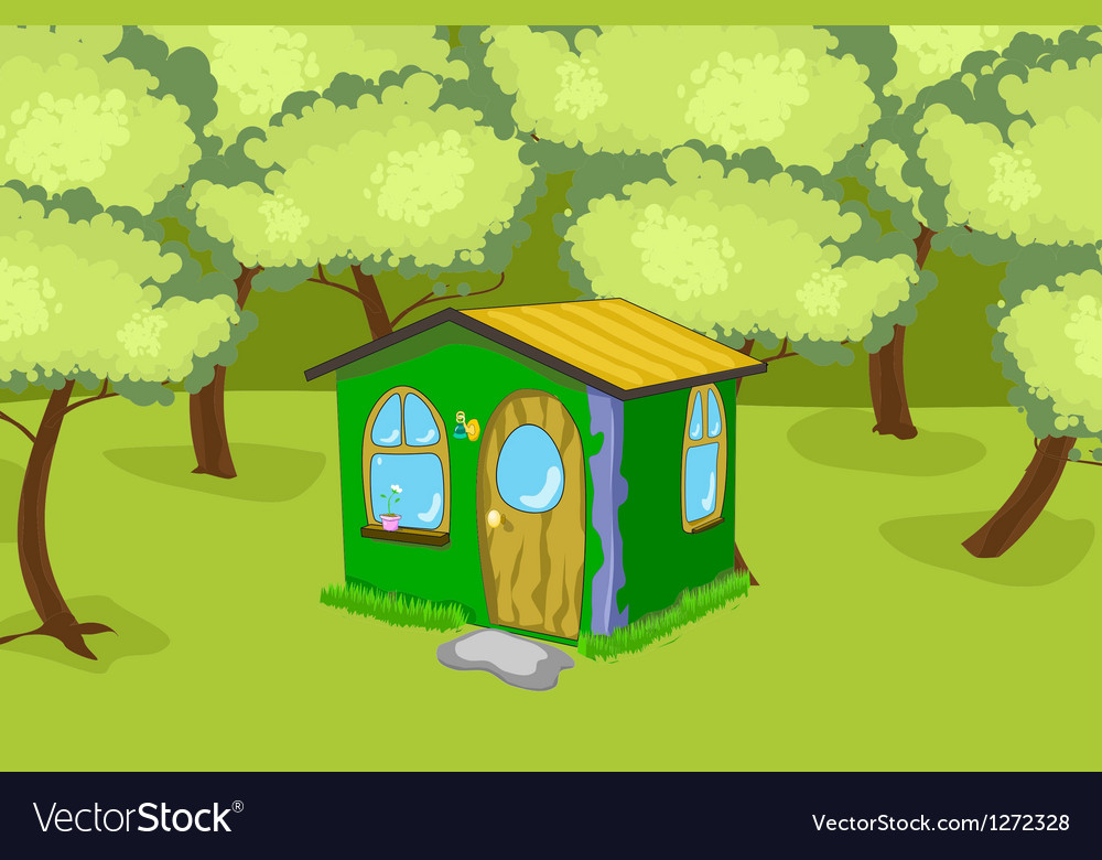 House in the wood vector image