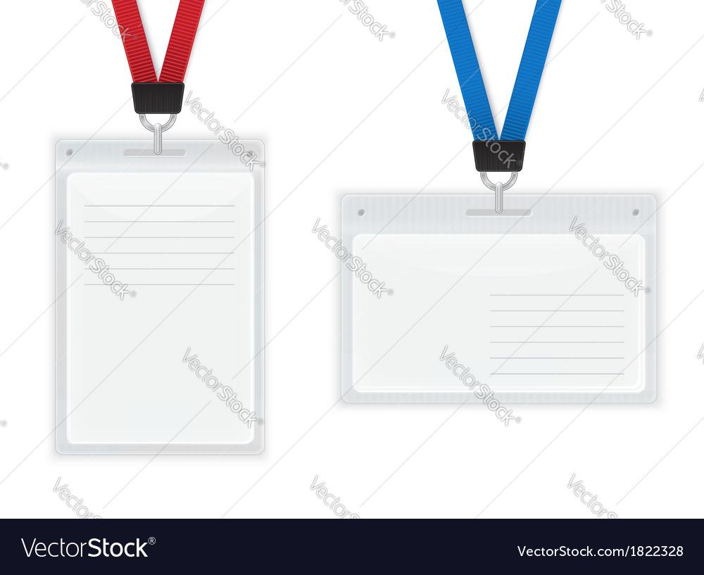 Plastic ID Badges vector image