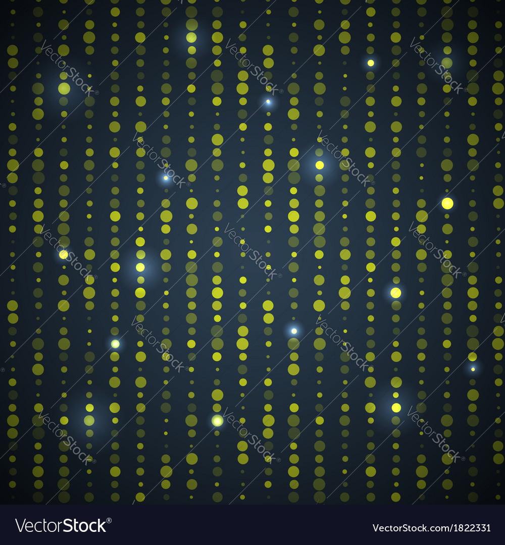Green Black Dot Pattern vector image