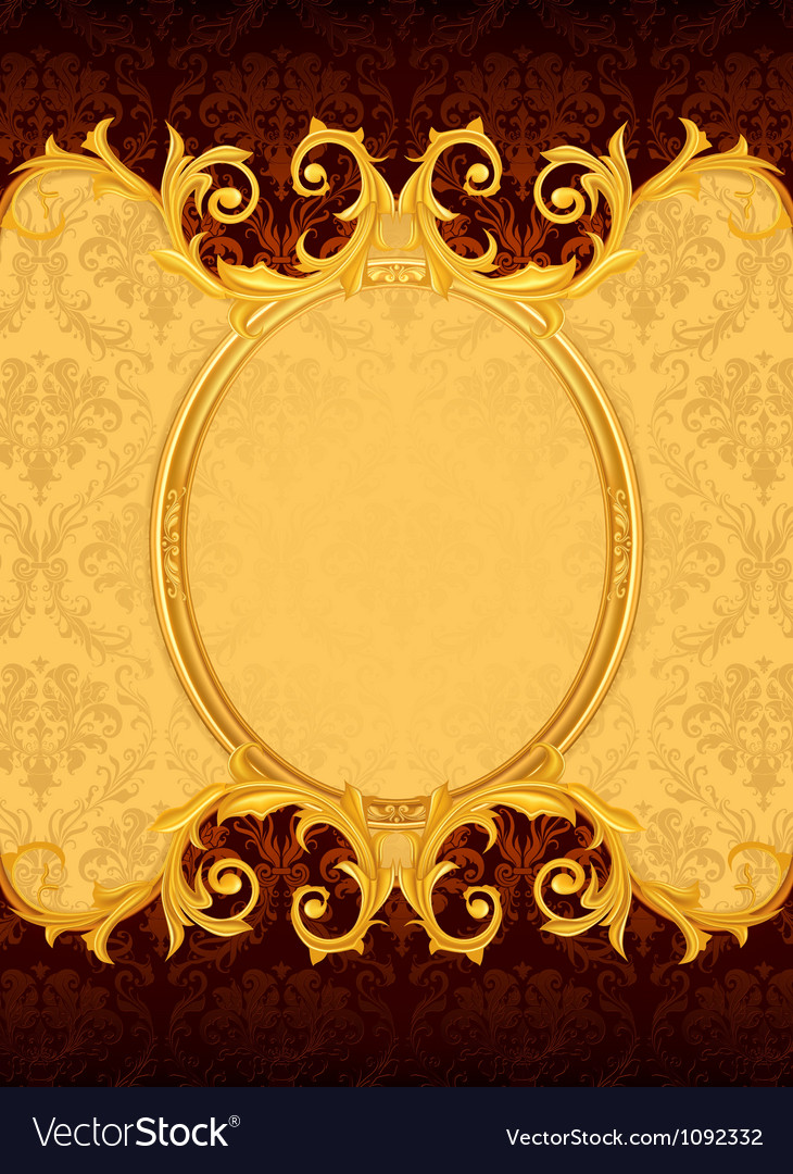 Background with the old frame vector image