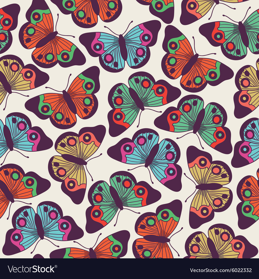 butterfly pattern design royalty free vector image