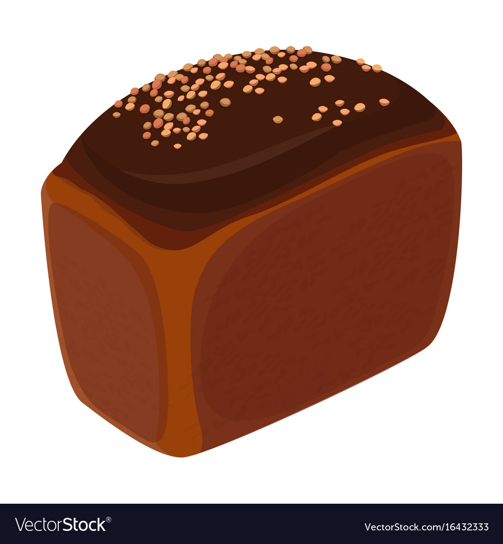 Loaf of brick bread realistic style isolated vector image