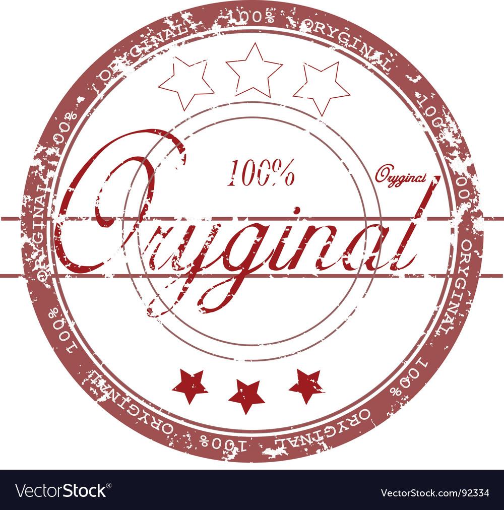 Rubber stamp 'original' vector image