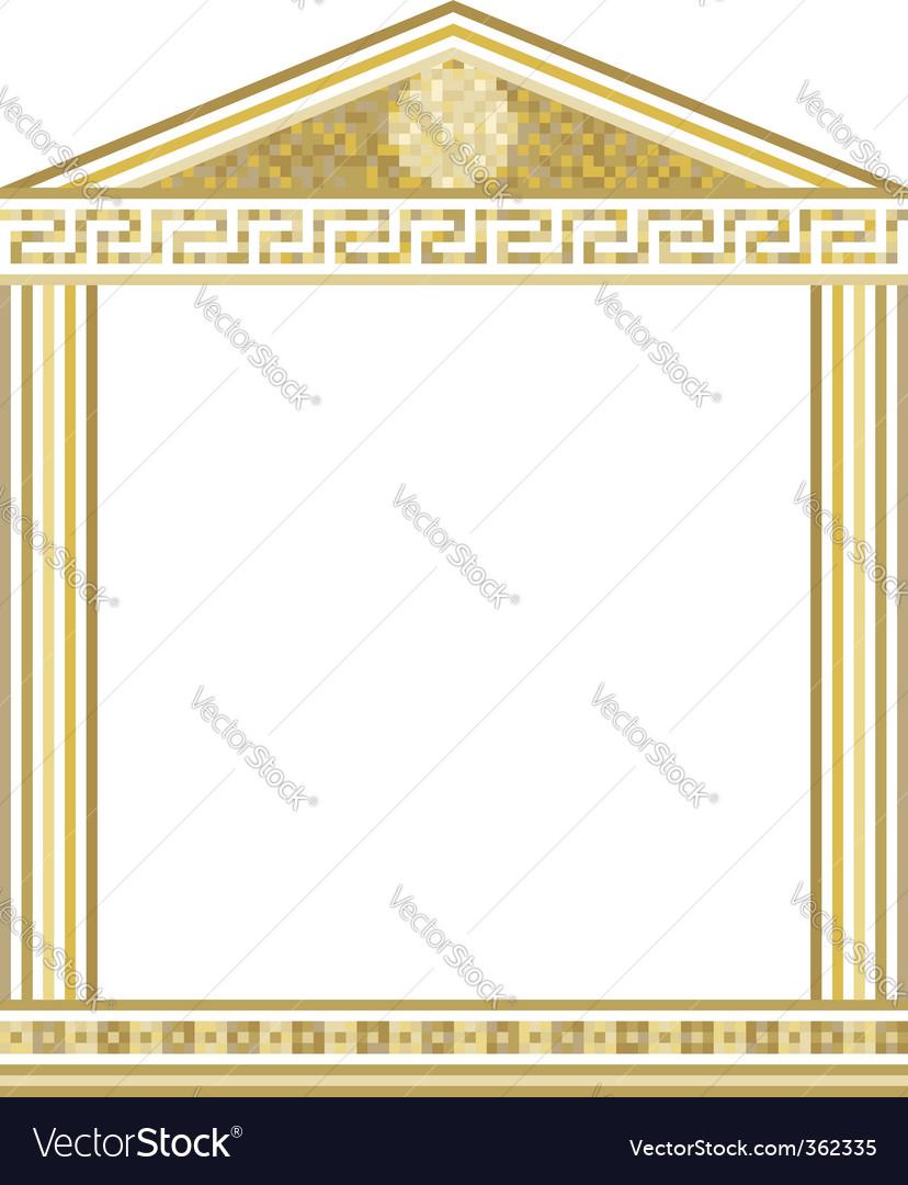 Greek columns royalty free vector image vectorstock greek columns vector image jeuxipadfo Gallery