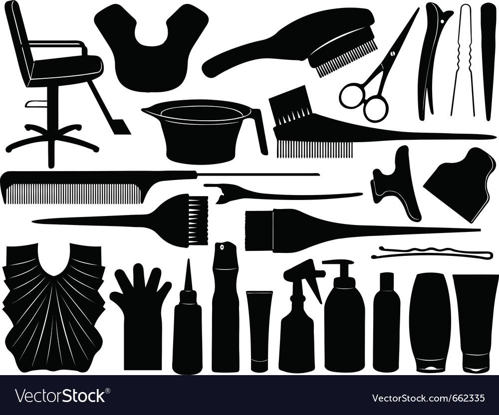 Hair dressing design elements vector image