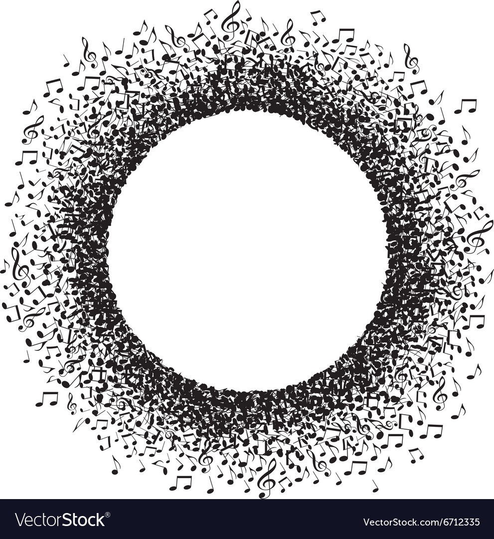 Note Circle vector image