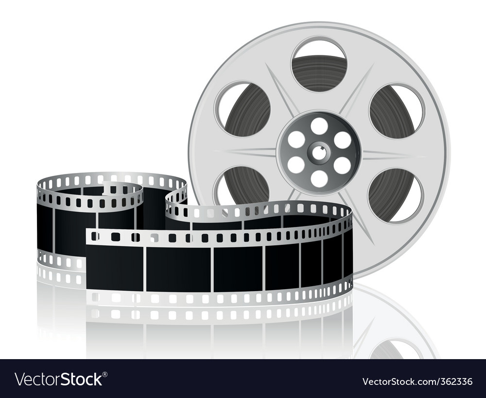 Twisted film vector image