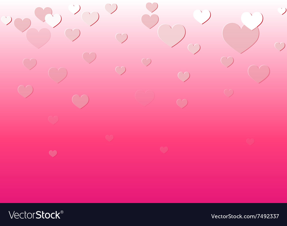 Falling Heart Pink Background vector image