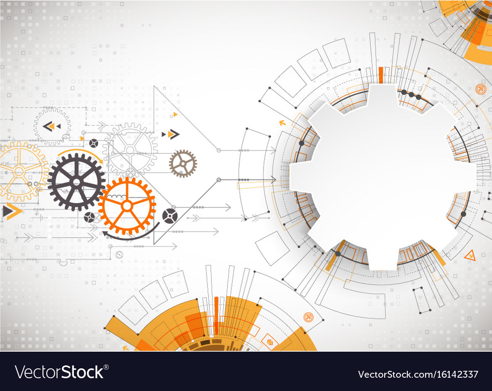 Hi-tech digital technology and engineering theme vector image