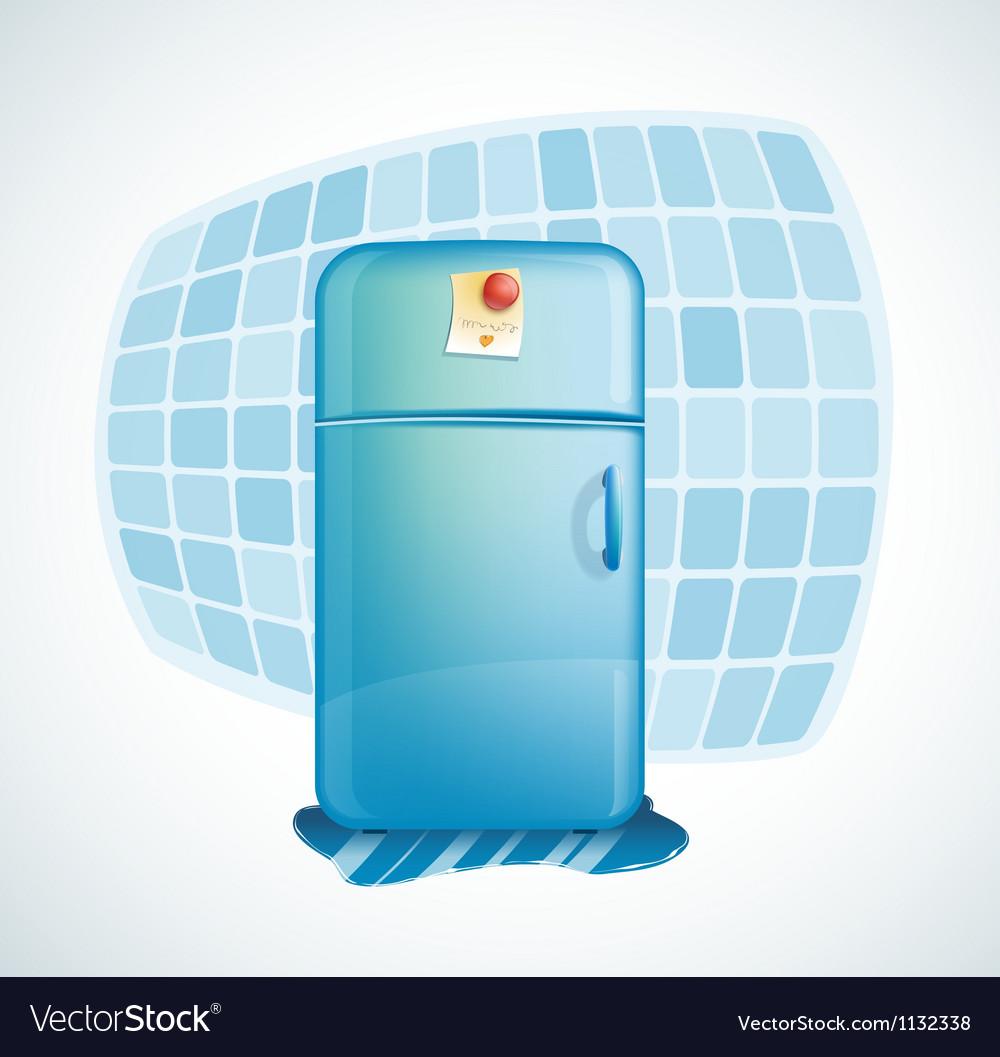Cartoon - refrigerator vector image