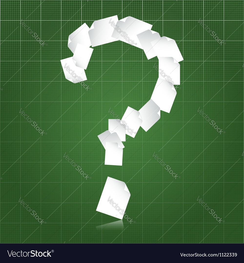 Paperwork questions vector image