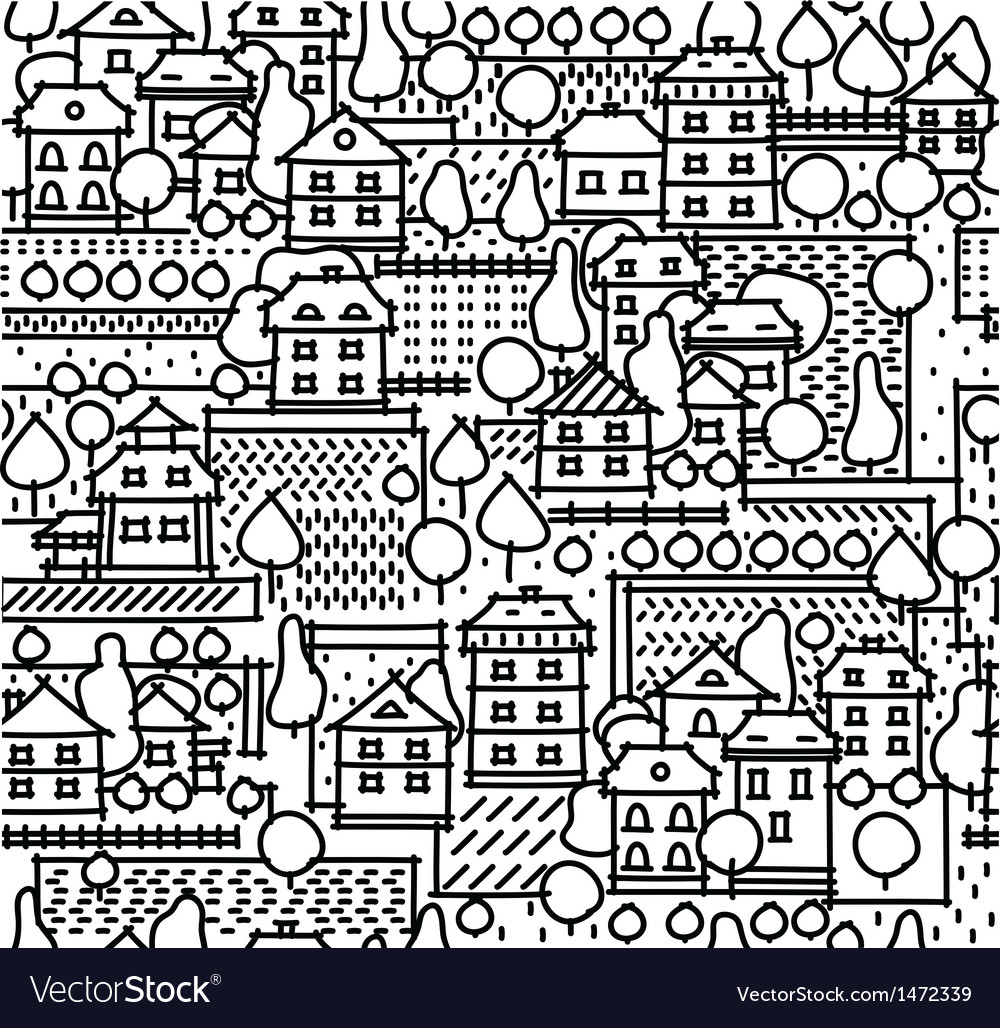 City pattern Vector Image