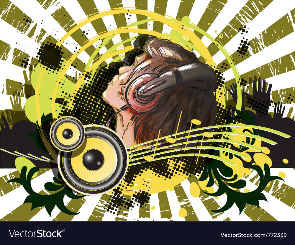 Abstract dj vector image