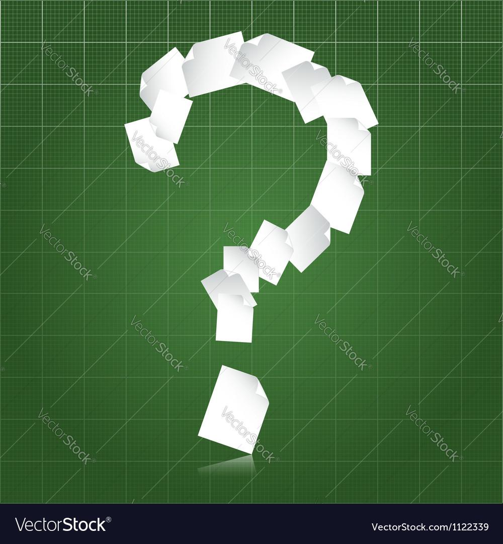Paperwork questions vector image