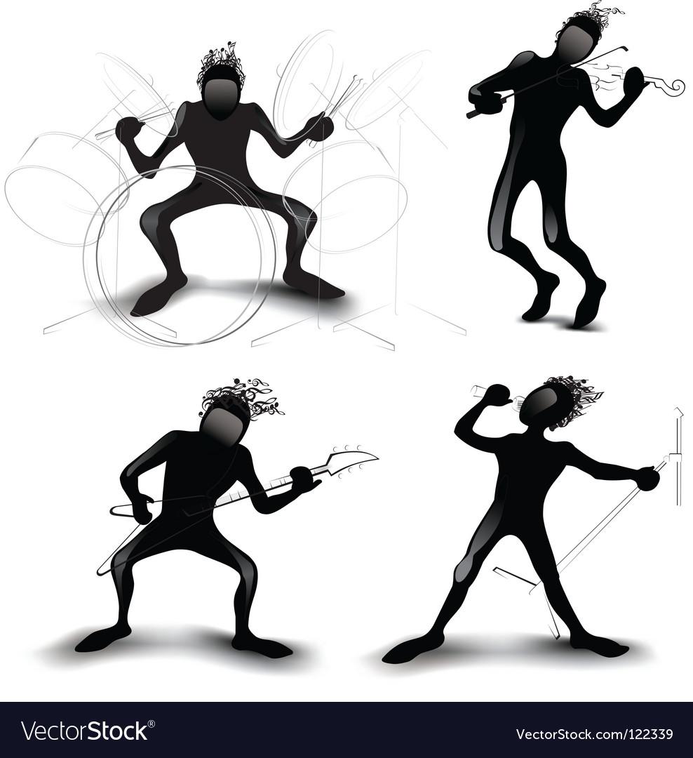 Rockers vector image