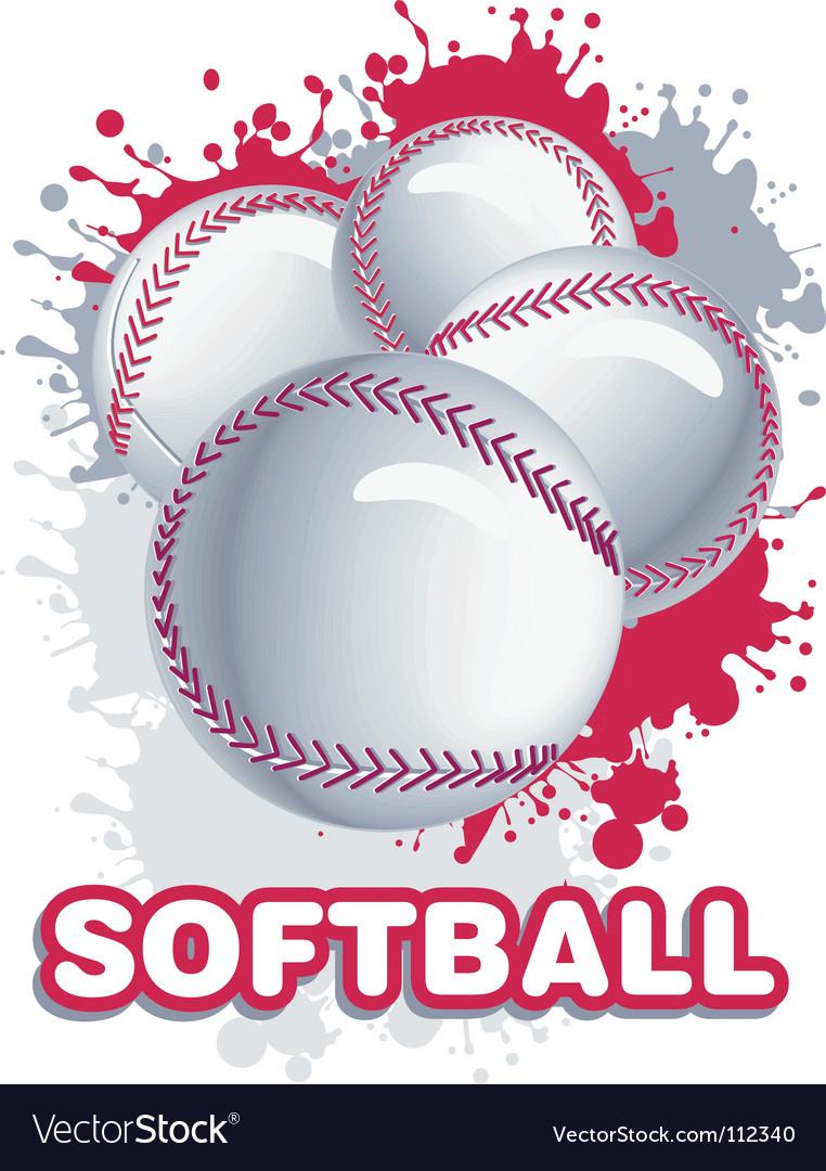 Softball vector image