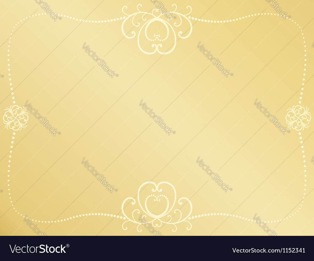 Golden Valentines Day background vector image