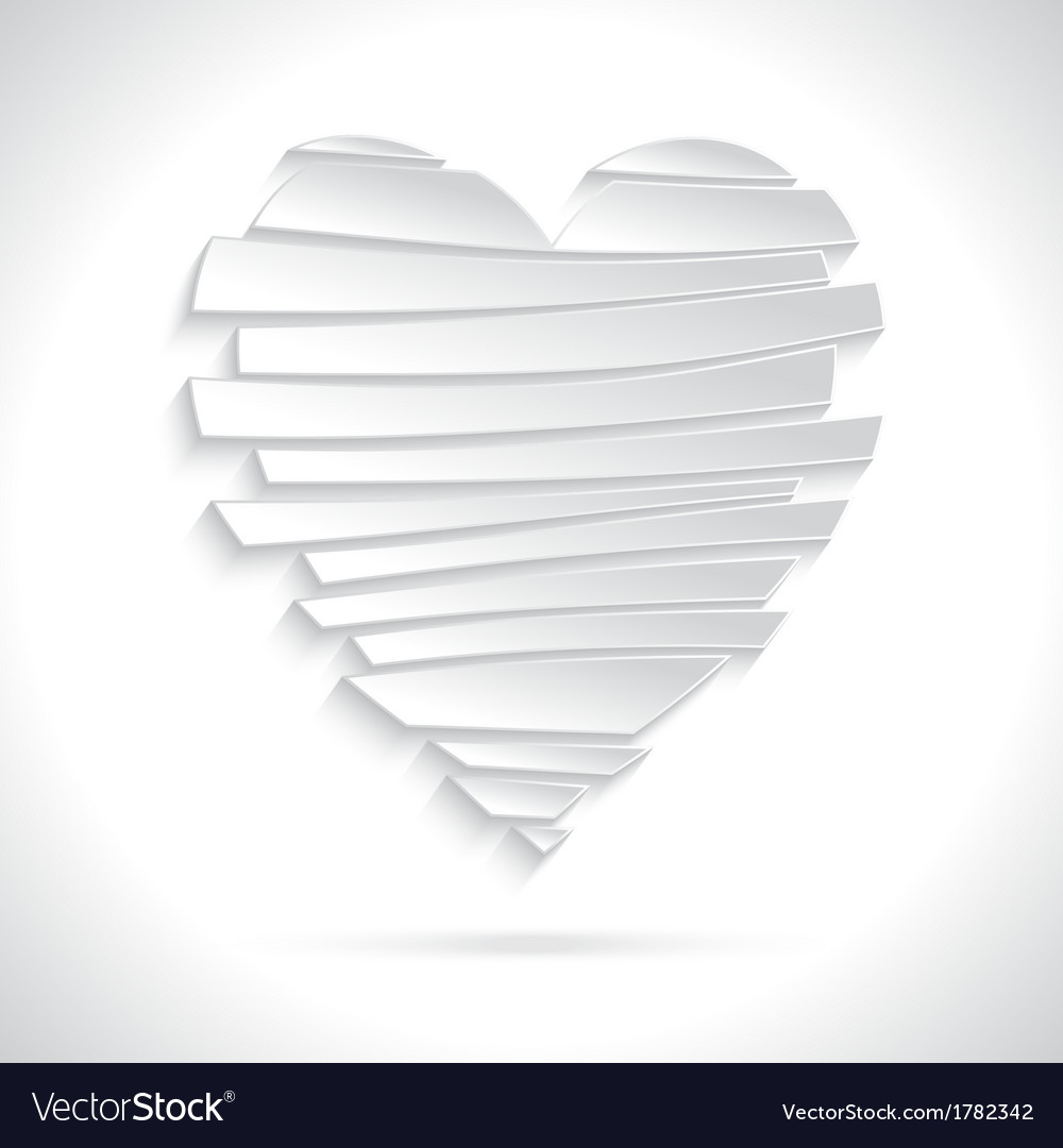 White Broken Heart vector image