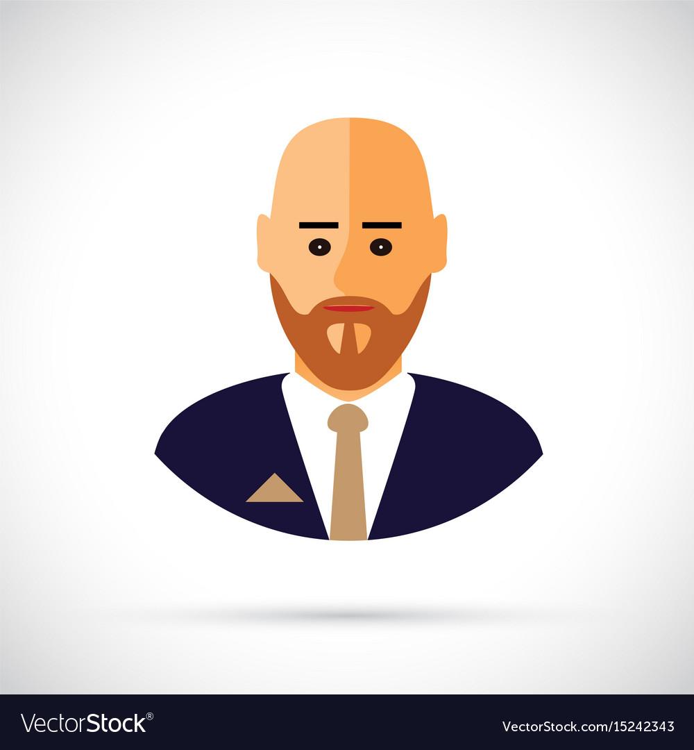 A cartoon of businessman profile vector image