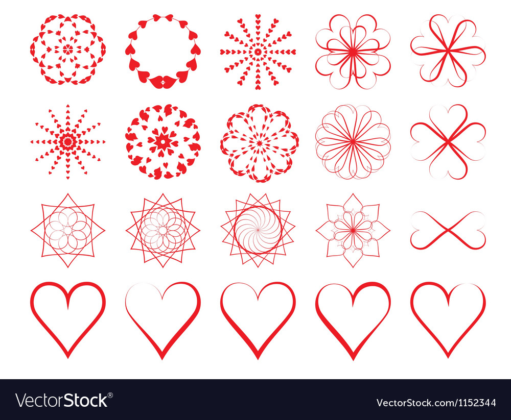 Day of Valentine symbols vector image